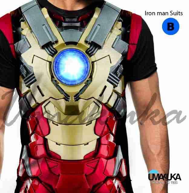 kaos superhero i ron man 3d umakuka fullprint