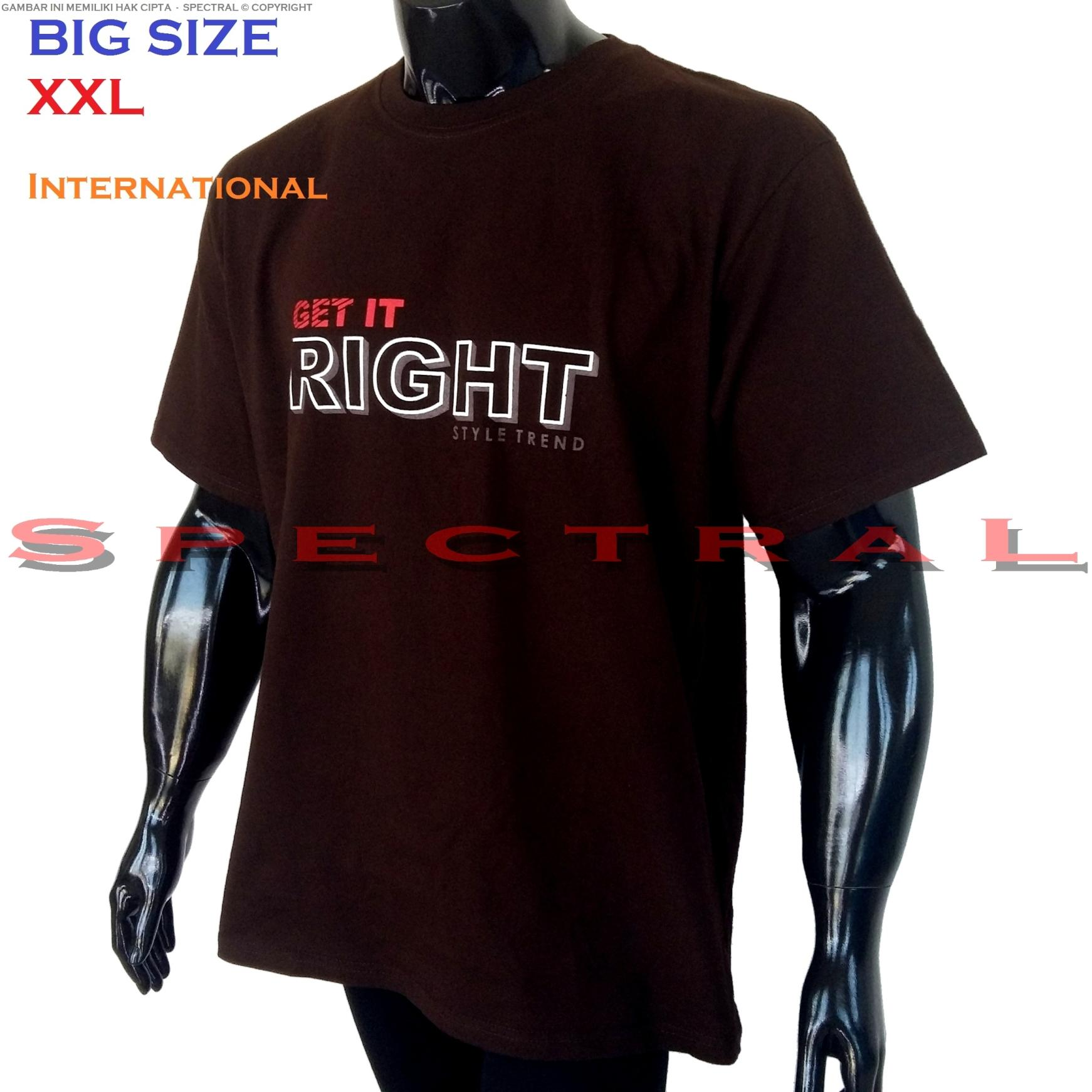 Spectral – BIG SIZE XXL INTERNATIONAL 100{55e037da9a70d2f692182bf73e9ad7c46940d20c7297ef2687c837f7bdb7b002} Soft Cotton Combed Kaos Distro Jumbo BIGSIZE T-Shirt Fashion Ukuran Besar Polos Celana Atasan Pria Wanita Katun Bapak Orang Tua Gemuk Gendut Lengan Simple Sport Casual 2L 2XL Baju Cowo Cewe Pakaian Terbaru GET