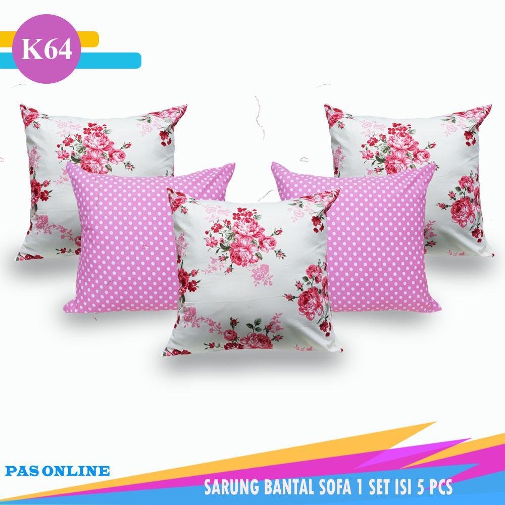 Pas Online - Sarung Bantal Sofa Set Kombinasi 1 Set = 5 Pcs ( Size 40 x 40 cm )