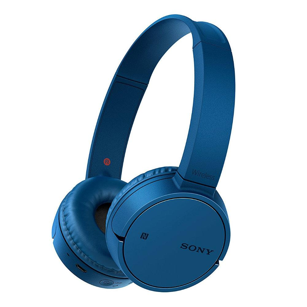 Sony Original WH-CH500 / WH CH500 / WHCH500 Blue Bluetooth Wireless On-Ear Headphones with Mic - headset warna Biru garansi resmi Sony Indonesia 1 tahun