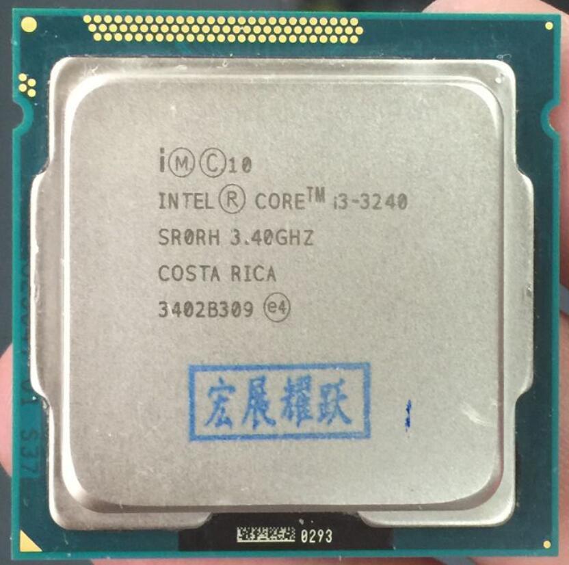 PC Komputer Intel Core I3-3240 I3 3240 Processor (Cache 3.40 GHz) LGA1155 Cpu Desktop