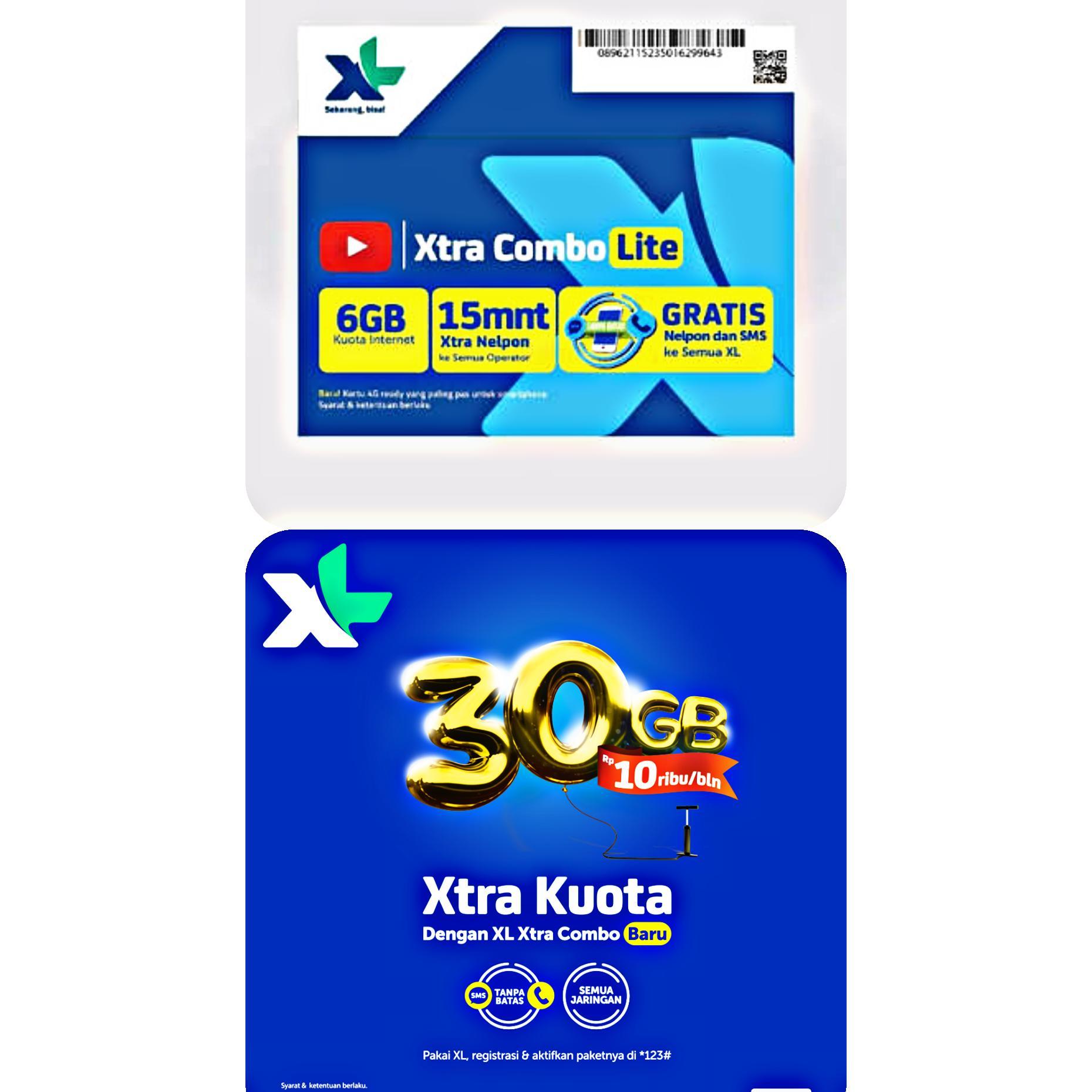 Kartu Sim Perdana Selular Xl Number  Meriah Internet 36gb Bonus Nonton