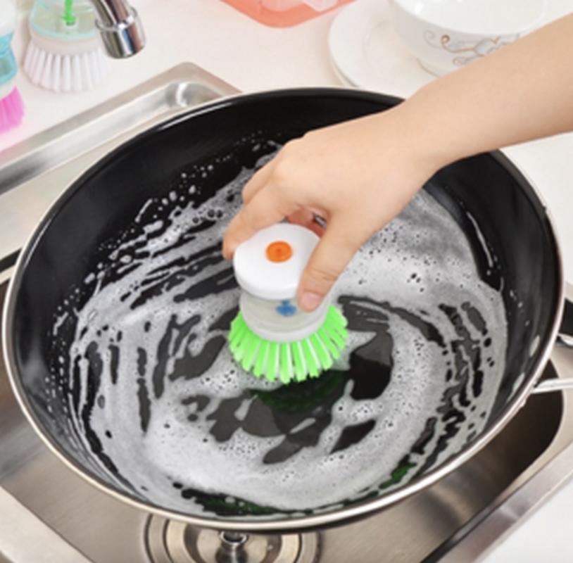Alat sikat panci inovatif dispenser sabun cair brush soap dapur piring AJAIB PROMO MURAH!!!