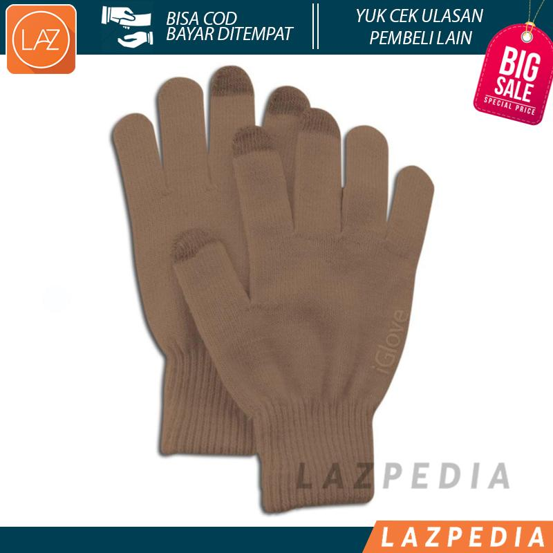 Laz COD - iGlove Sarung Tangan Touch Screen Untuk Smartphones & Tablet Bahan Material Berkualitas Tinggi Yang Konduktif dan Lebih Sensitif Hadir Dalam 1 Ukuran Nyaman Saat di Gunakan - Lazpedia A54