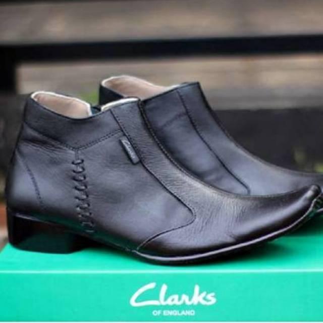 Sepatu Clarks Pantopel Kulit Pria Leather Formal Kerja PDH/PDL Model Boots Kulit Asli CRH001