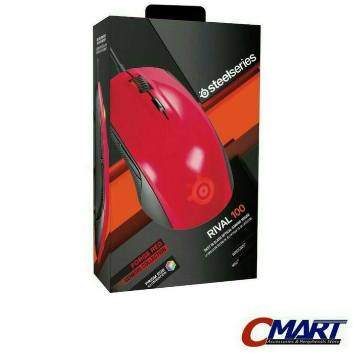 steelseries Rival 100 Gaming Mouse Gamers Gamer Game - Red - 62337