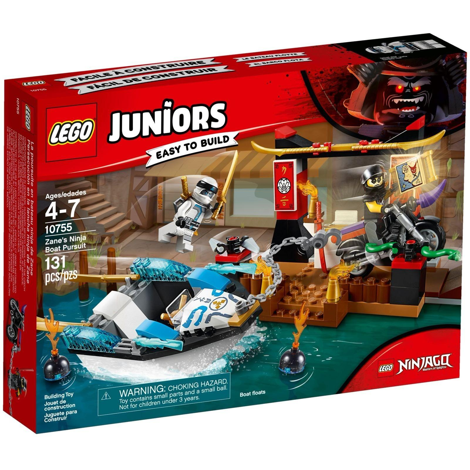 Buy Sell Cheapest Lego Juniors 10725 Best Quality Product Deals 10720 Police Helicopter Chase 10755 Zanes Ninja Boat Pursuit
