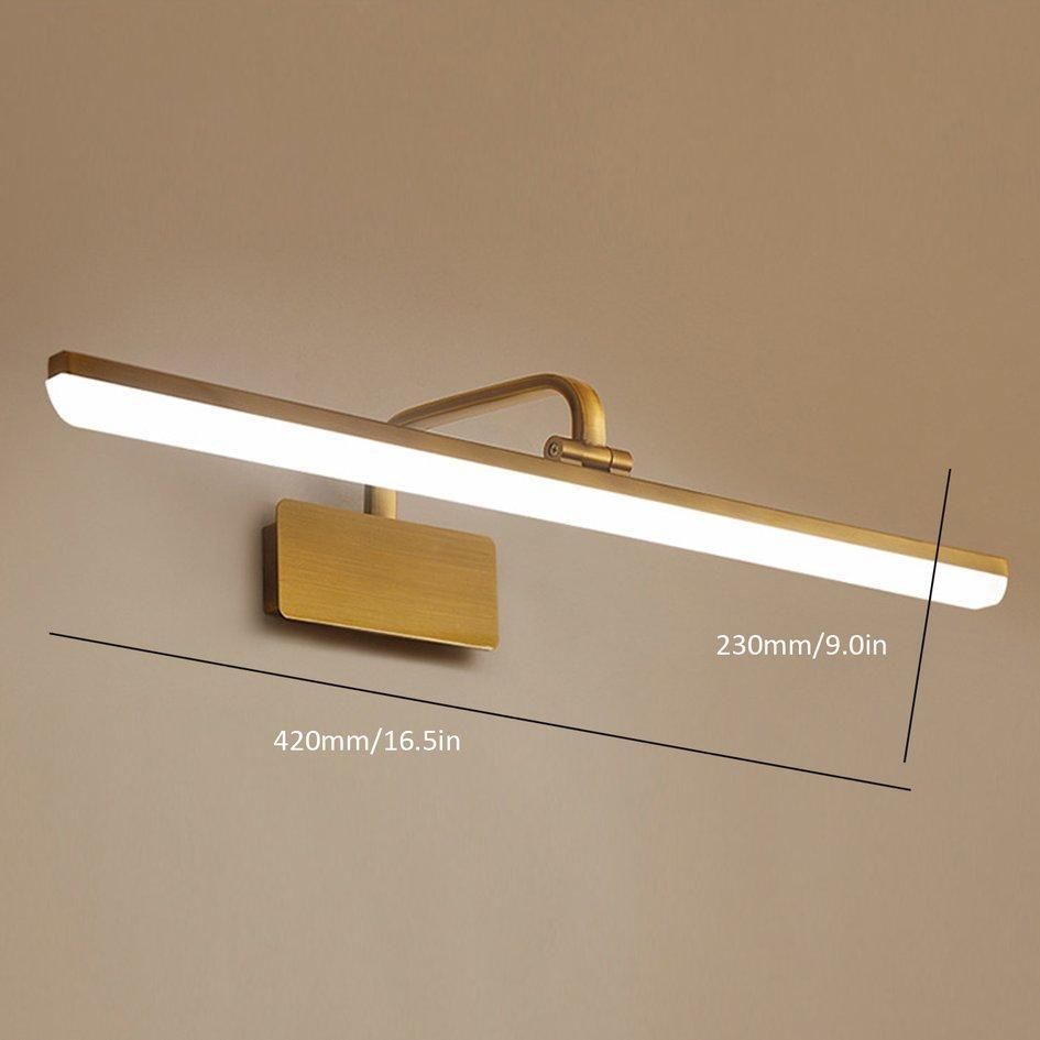 Penuh Gaya Amerika LED Toilet Cermin Kamar Mandi Lampu Depan Membuat Lampu Dinding