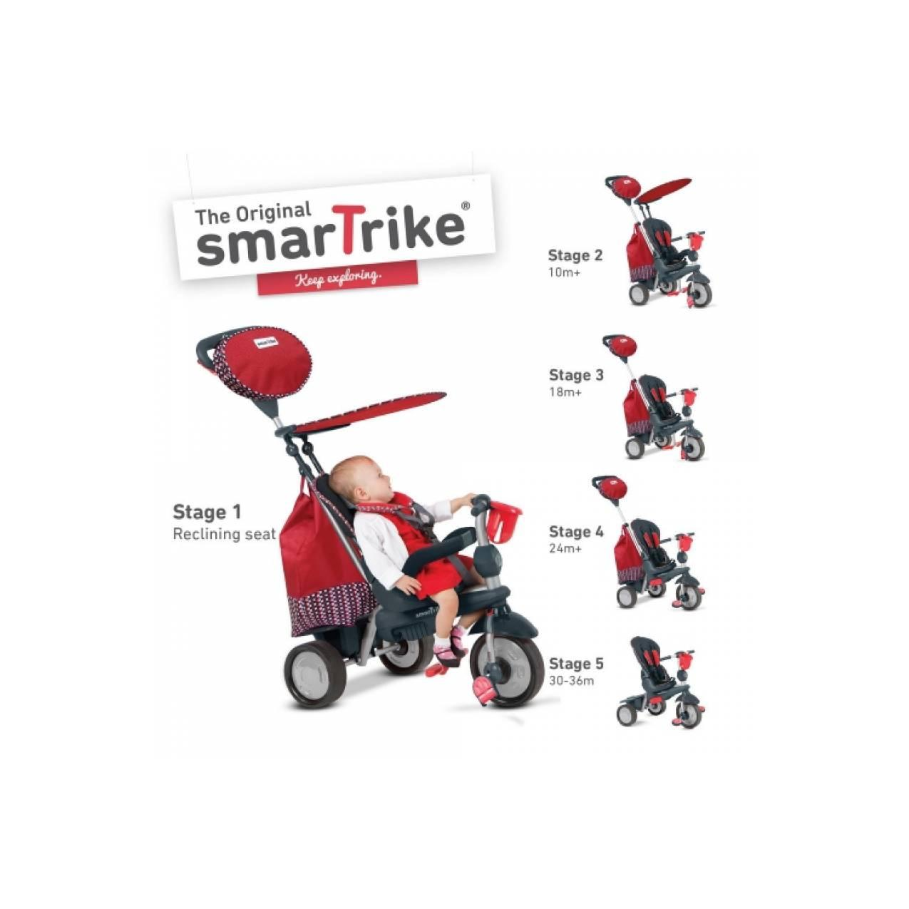 Smart Trike Splash 5in1 Red Recliner