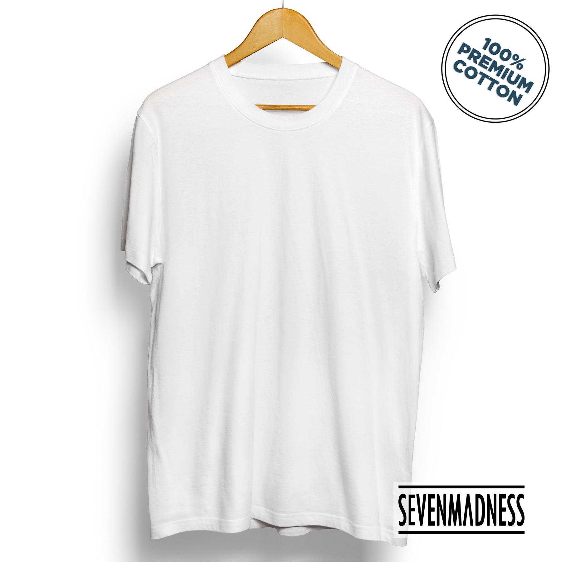 Sevenmadness - Kaos Polos Unisex Pria   Wanita - Premium Cotton Combed  Tshirt 2737bcfd7e
