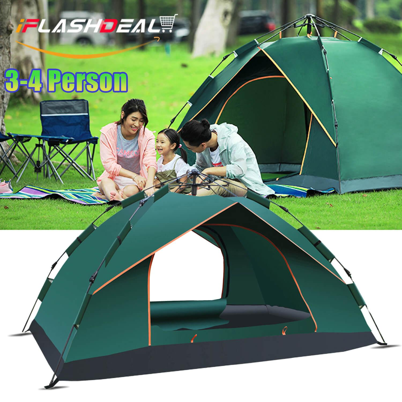 Tenda Camping Berkemah Tas Kap 4 5 6 Iflashdeal Kamping Double Layer Door Tent Adventure Outdoor Naik Gunung 3