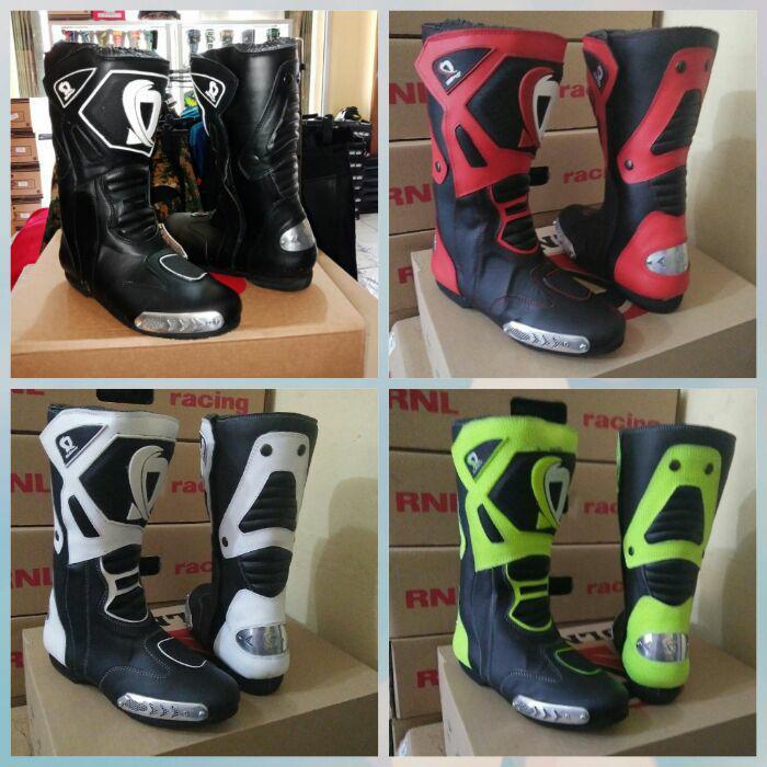 sepatu boots balap roadrace dln not alpinestar,dainese,gordons,hrp