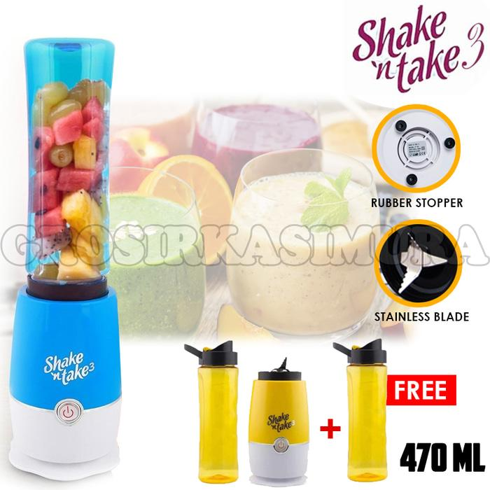 [ GARANSI 100 % ] Shake N Take 3 (2 Tabung) Hand Blender - 2 CUP juicer blender OL03 @ blender philips / blender miyako / blender murah / blender cosmos / blender mini / blender portable / blender tangan / blender philips promo daging manual beauty