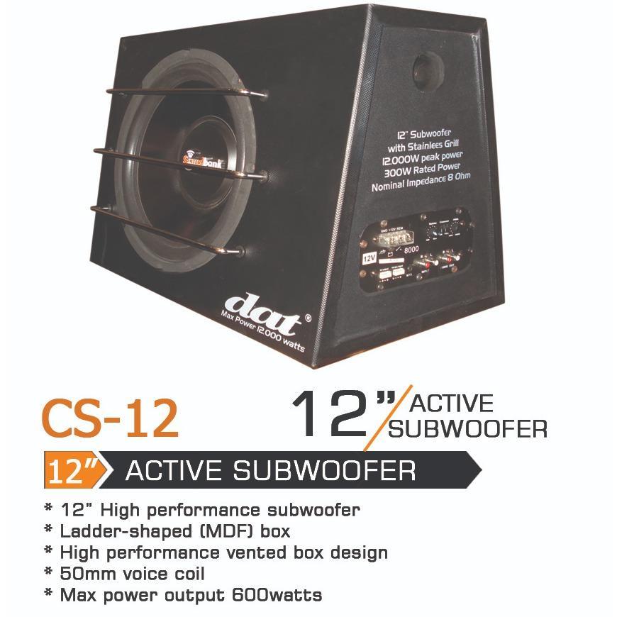 CAR Subwofer active dat CS-12
