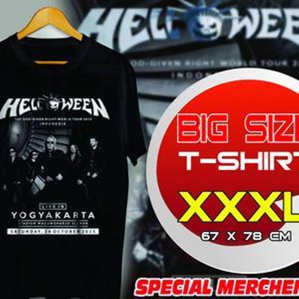 Kaos BIG SIZE XXXL Helloween Konser Live In Yogyakarta Indonesia 2015 Band Helloween Heavy Metal Best Band Live Concert Concert Ot Design