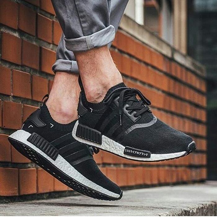 37ca6c4b98dd9 sale adidas nmd runner japanesse monochrome premium original sneakers  sepatu pria murah sepatu pria edd1b b791a