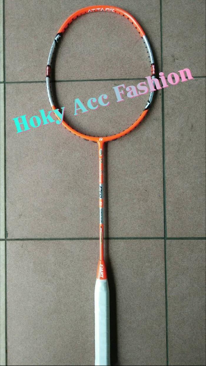 ORIGINAL!!! Raket Badminton Hart Powershoot New Attack Orange - BD3xUg