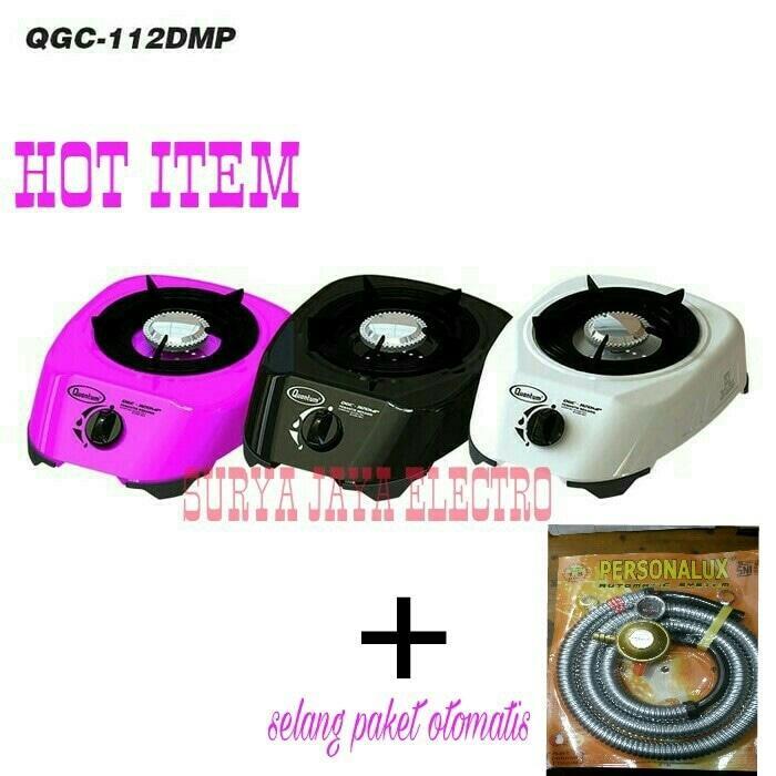 ASLI!!! kompor gas quantum 1 tungku QGC 112 DMP + selang paket personalux - UOgplv