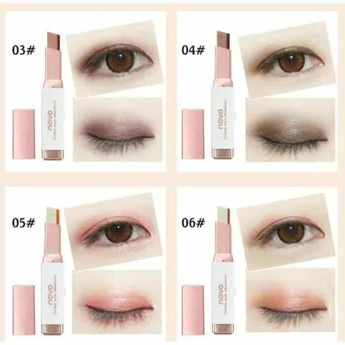 Promo - NOVO Eyeshadow Bar Two Tone Original* NOVO Eyeshadow Gradasi 2 Warna
