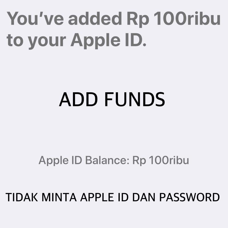 Itunes Gift Card IGC Deposit Rp. 100.000 Indonesia Metode Add Funds - Toko IGC