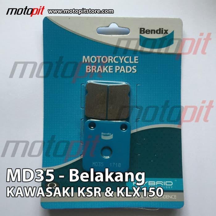 Kampas Rem Belakang Kawasaki KLX150 & KSR Bendix MD35