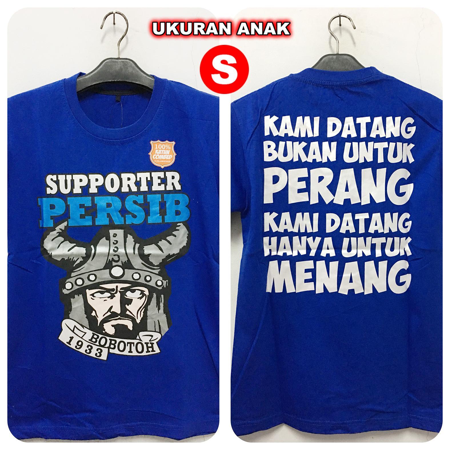 Kaos Distro Anak PERSIB BOBOTOH MENANG BLUE (S)