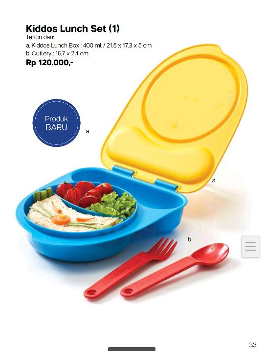 Tempat Bekal Anak Tupperware Kiddos Lunch Set