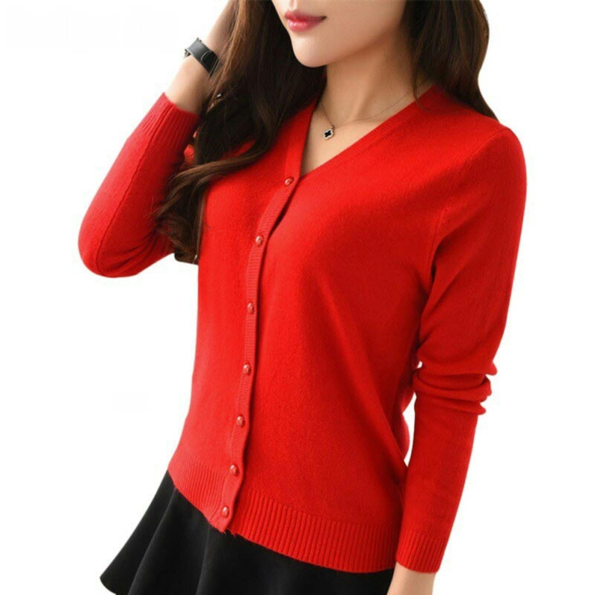Cardigan Wanita Rajut MSR173 / Kardigan / Sweater / Jaket / Baju Hangat / Luaran /