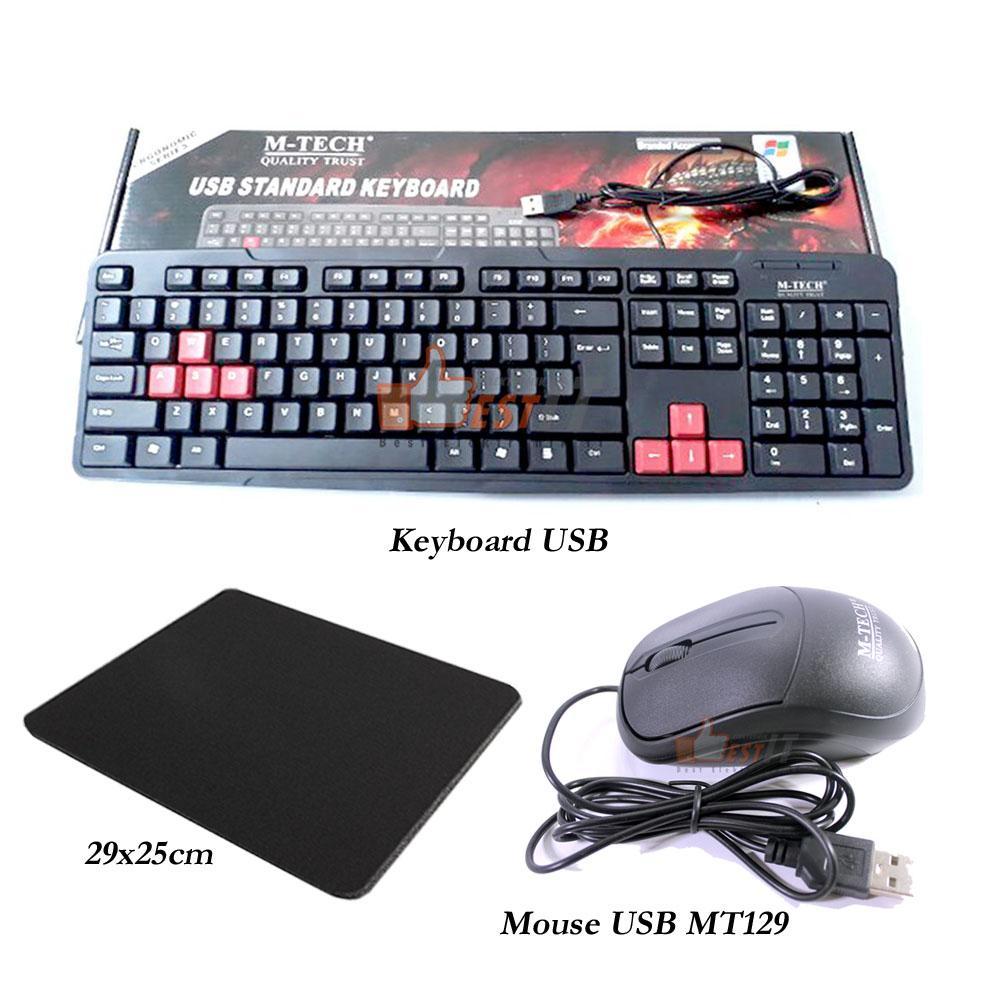Keyboard USB For PC Komputer Laptop Paket Murah