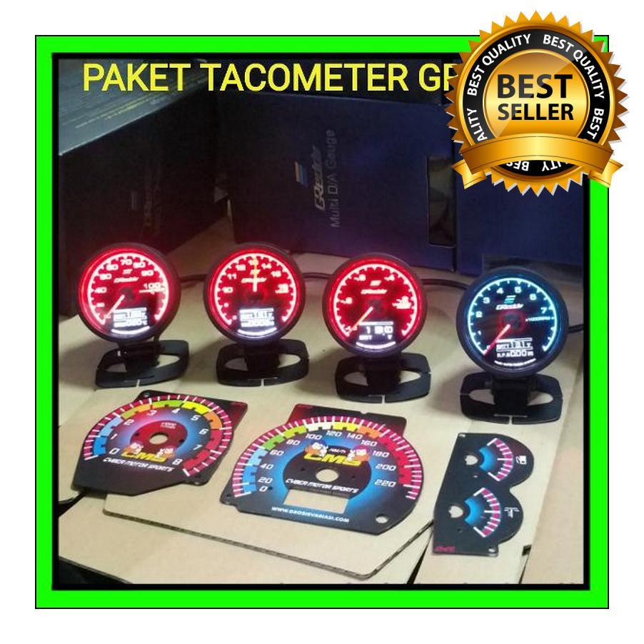 Paket Greddy pokoke gaul lah interiormu bos. Tachometer dan indikator komplit. Paket interior racing Tachometer universal. Paket racing greddy  jos