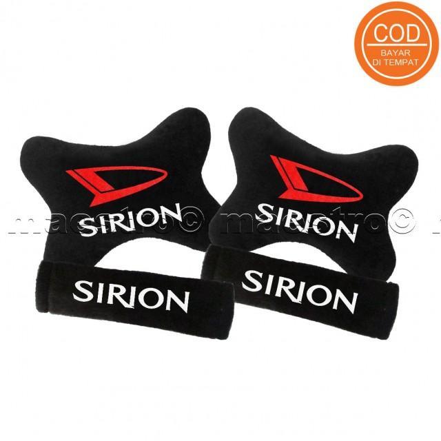 Aksesoris bantal leher jok mobil lucu unik Set 2in1 Daihatsu Sirion