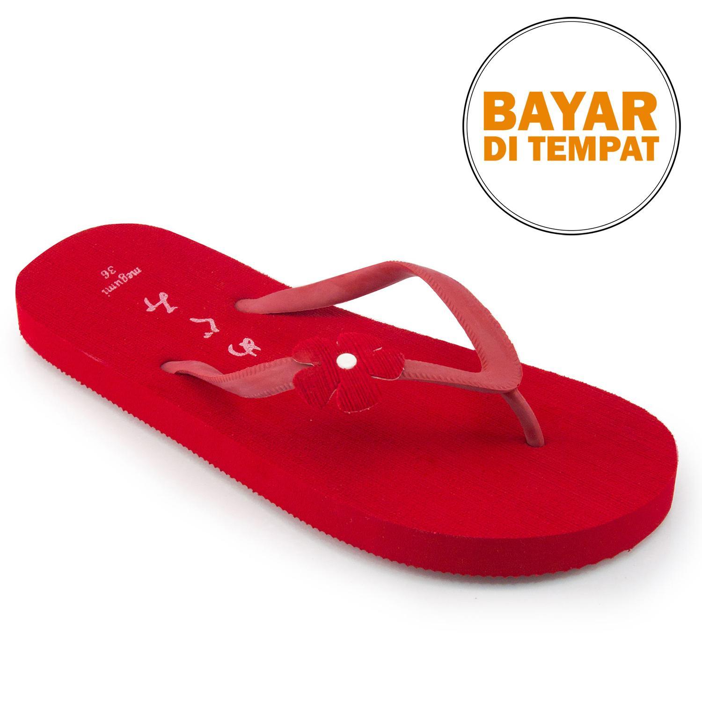 Megumi Freesia Sandal Jepit - Merah