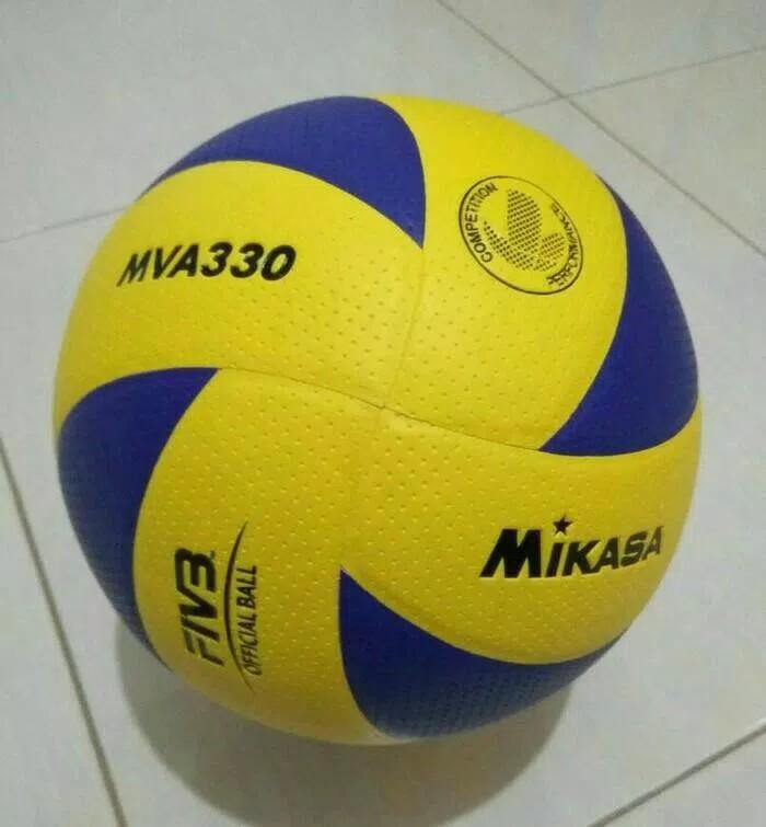 Volley / Voly / Bola Volly Mikasa Mva 310 Bintik Bahan Pu Lembut By Smile Shop--.