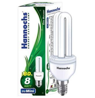 Shock Price HANNOCHS BOLA LAMPU HEMAT ENERGI 2U 8 WATT best price - Hanya Rp14.517