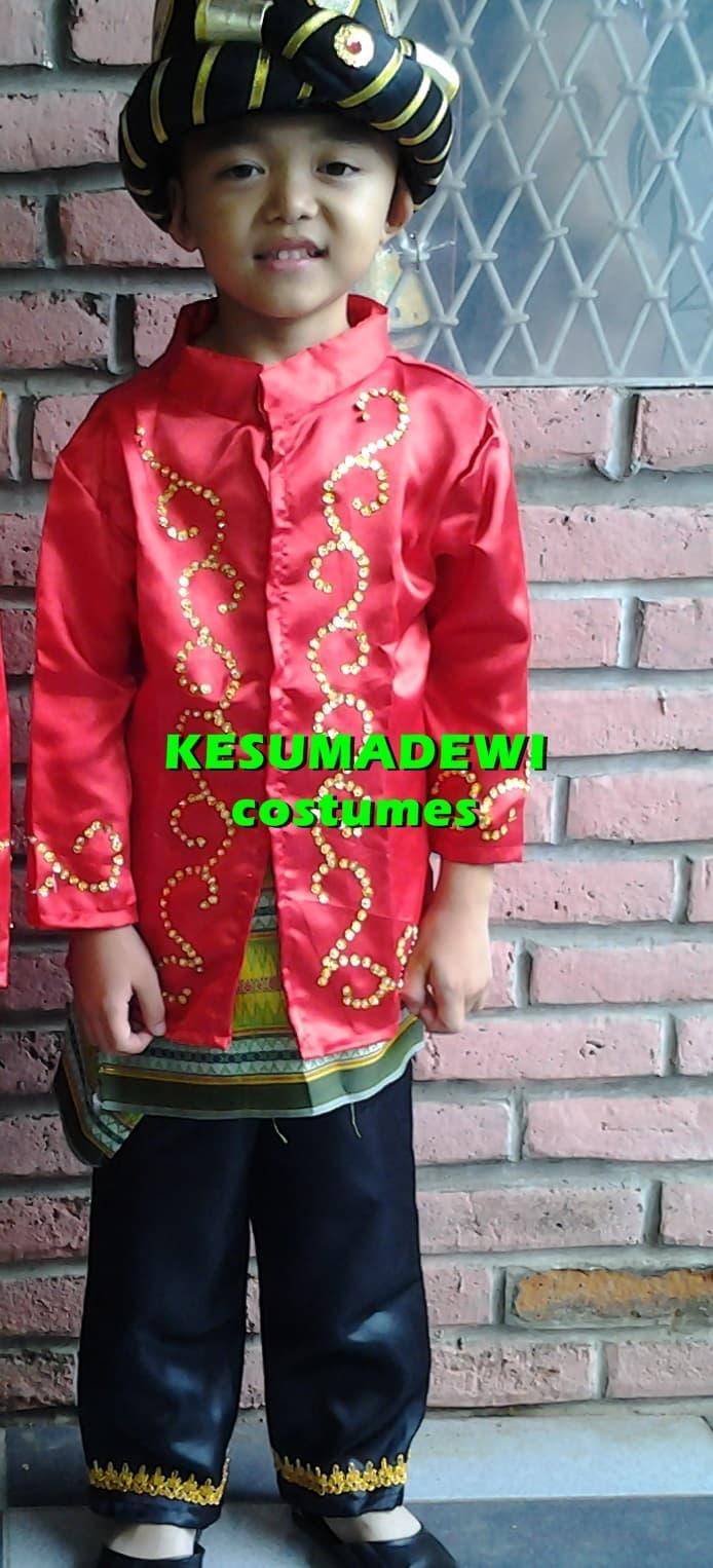 Terbaru! Pria Aceh Tk | Baju Adat Kostum Karnaval Anak Daerah - ready stock