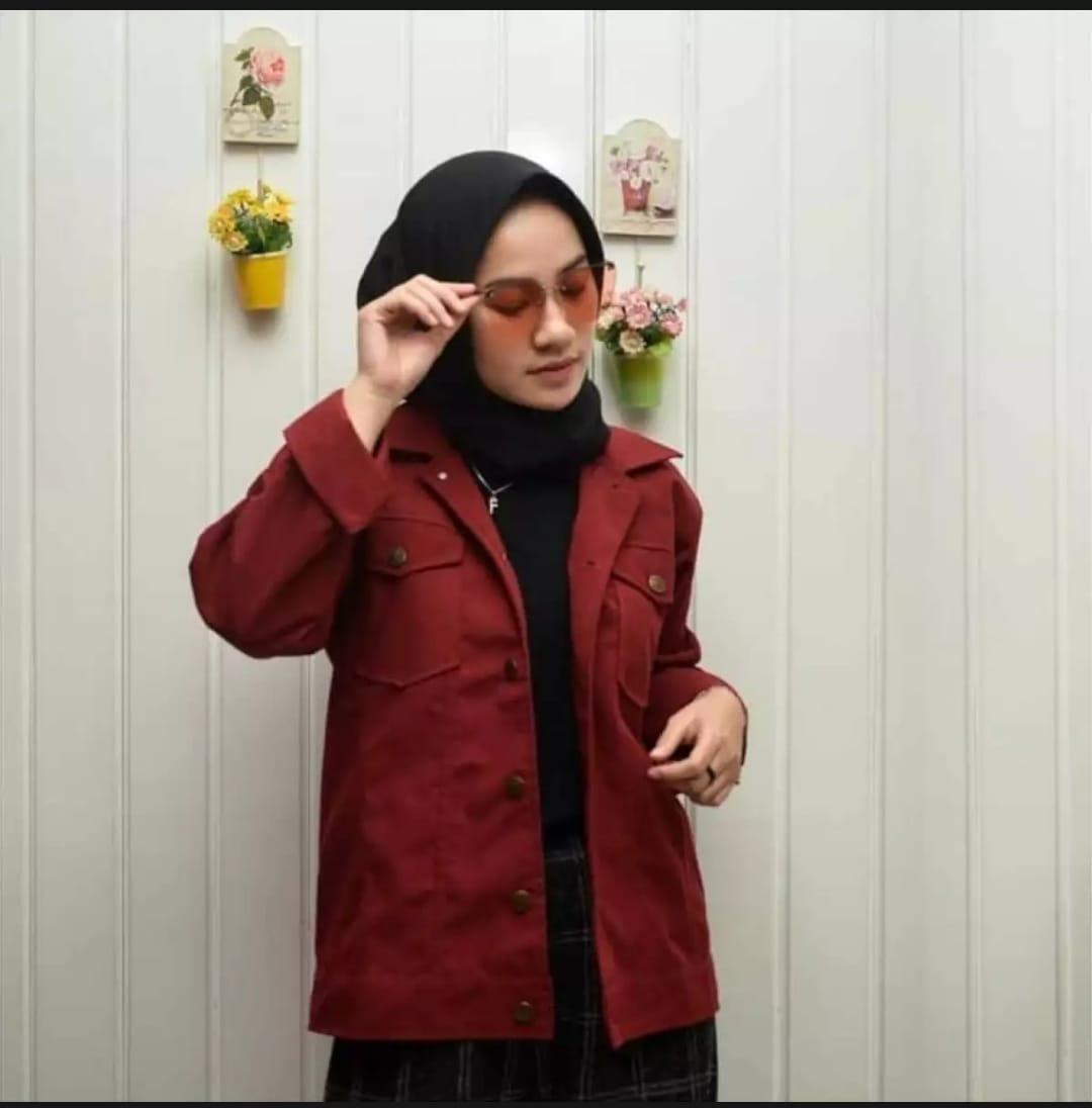 Jual Jaket Denim Wanita Tebaru Salo Sepatu Kasual Pria Coklat Mono Jacket Fashion Korean And Casual
