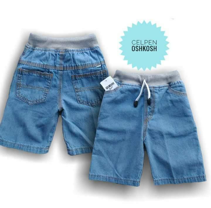 Jeans Pendek Rib Polos 4-7 T