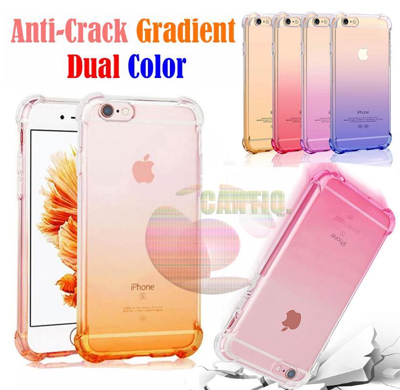 Case Anti Shock Gradient iPhone 7 Ukuran 4.7 inch Ultrathin Anti Crack Elegant Softcase Anti Jamur Air Case 0.3mm / Silicone Iphone 7G / Soft Case / Silikon iphone 7G Anti Crack Warna / Case Hp / Case iphone 7g / Pelindung Hp - Kuning