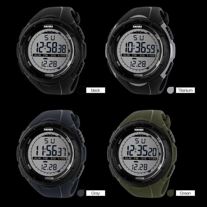 skmei bold outdoor ( hastag termurah kode jam tangan outdoor dg1025 1025 ad1025 ) Variasi grey