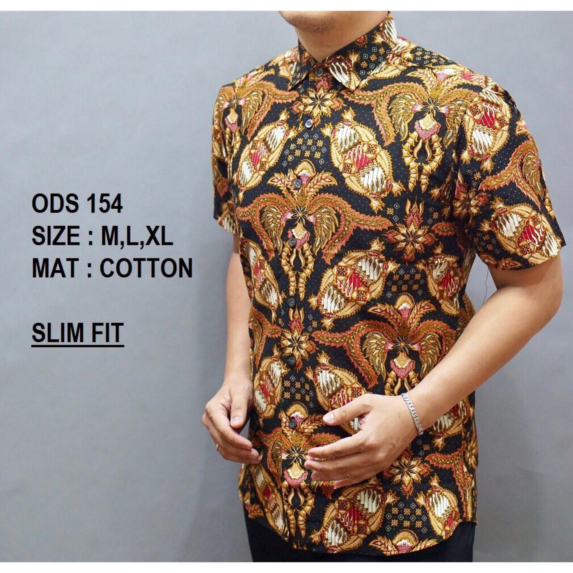 Batik Pria Lengan Pendek OB609