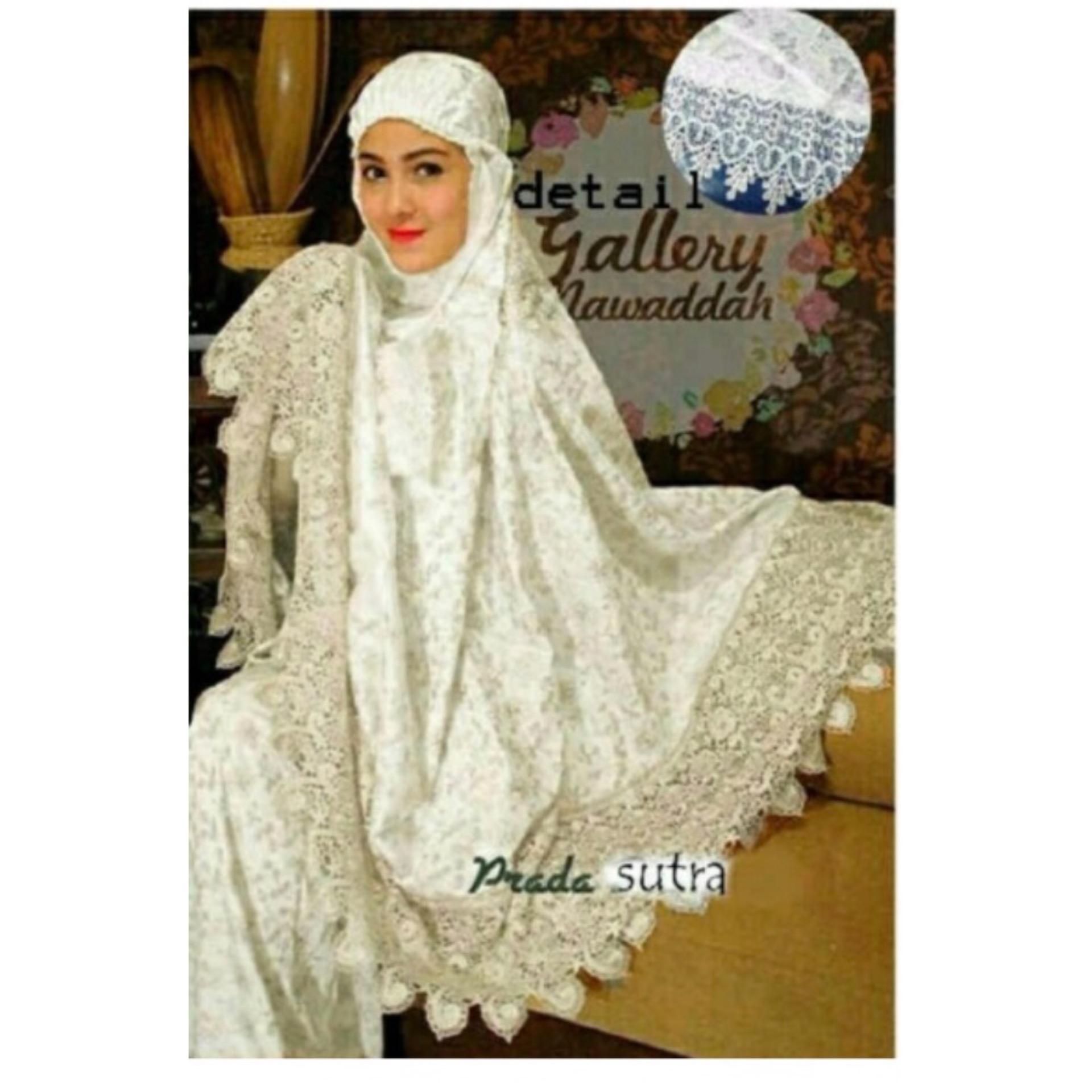 F Fashion Mukenah Wanita Muslim Sutera / Baju Gamis / Busana Muslim / Baju Muslim / Kebaya Modern / Hijab Muslim / Gamis Muslim / Bergo / Syari / Hijab Wanita / Maxi Hijab