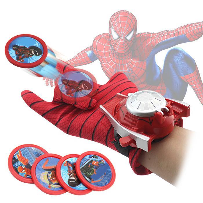 Hbqcwj Cosplay Sarung Tangan Launcher dengan Piring Terbang Mainan Aksesori Pesta Topeng Hadiah Ulang Tahun