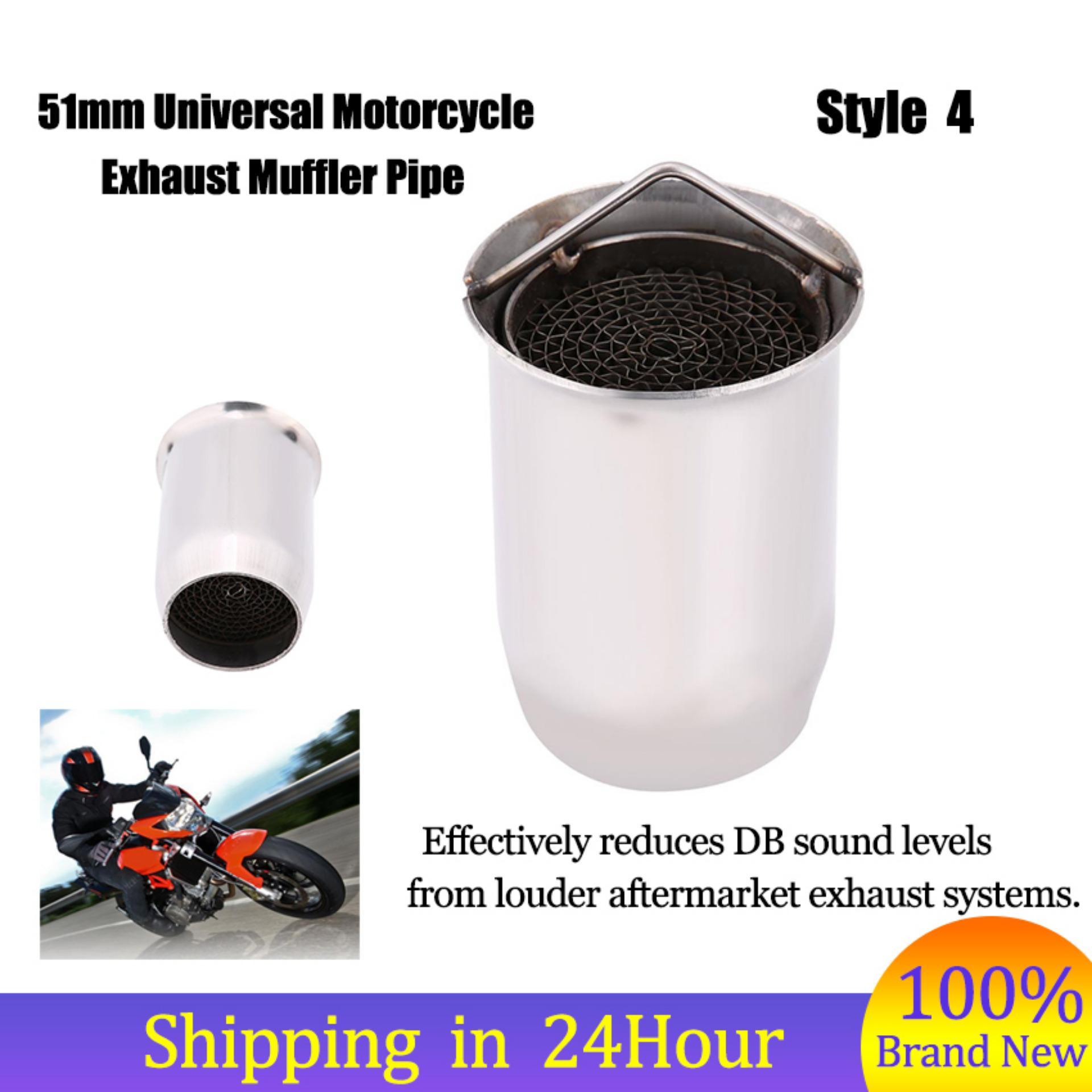 Motorcycle Exhaust Pipe Muffler Silencer DB Killer Noise Eliminator Style4 51mm Universal - intl