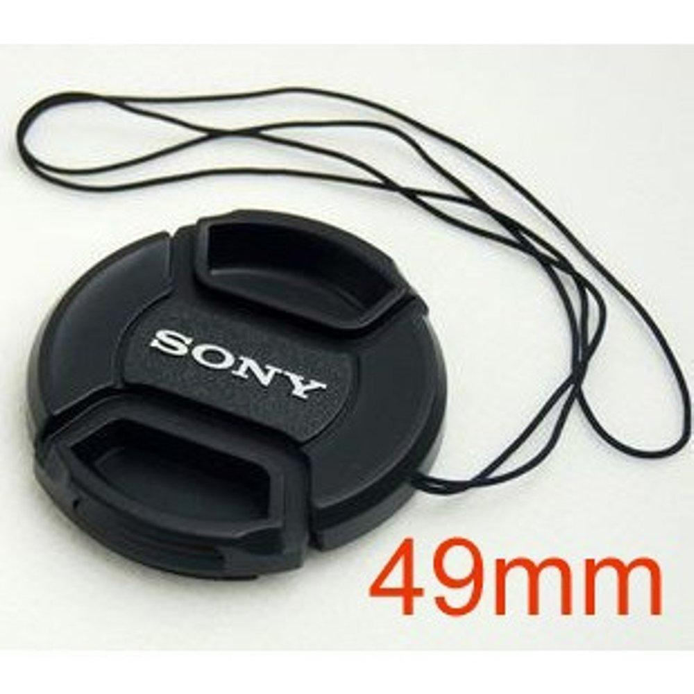 49mm Lens Cap w/ Cord for Sony NEX-5C NEX-C3 NEX-5N 16f18 18-55mm