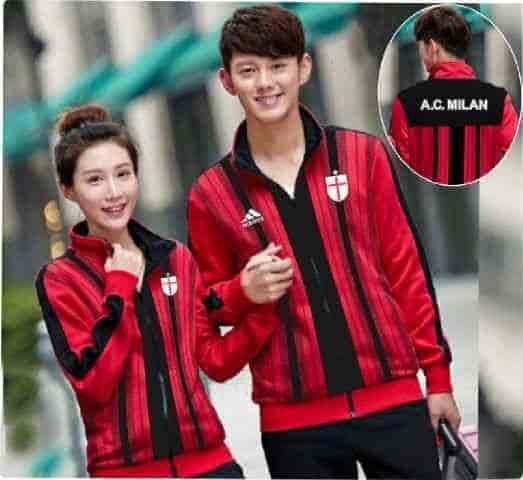 [Cp Jkt AC Milan LT] jaket couple babyterry merah