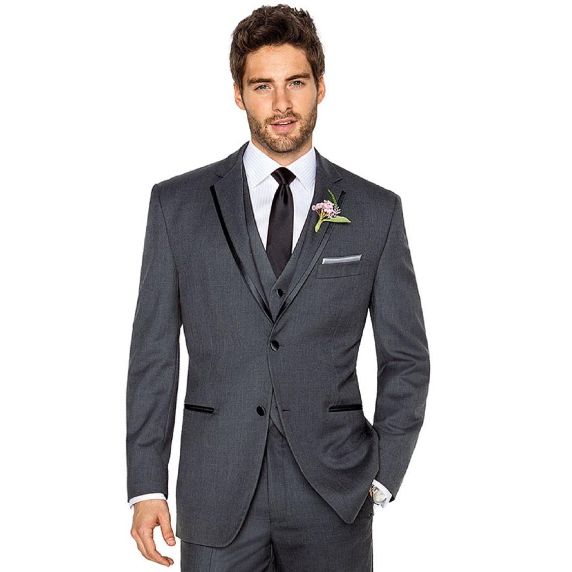 Folkstore - Setelan Jas Wedding Luxury - Jas Prewedding - Jas Pesta (Jas+Vest+Celana) - Slate Blue