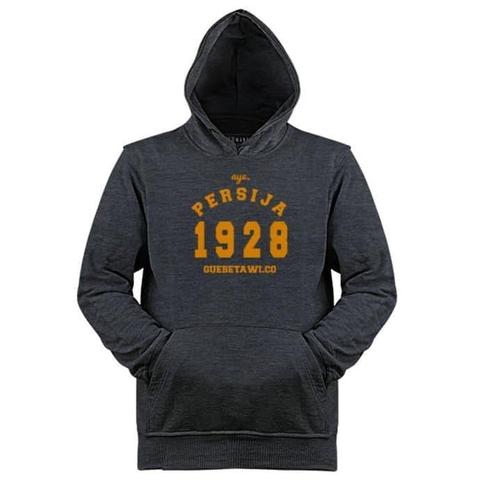 ORIGINAL!!! HE246 Jaket Hoodie Sweater Jumper Persija Aye 1928 Gue Betawi Jakmania - L5u6IS