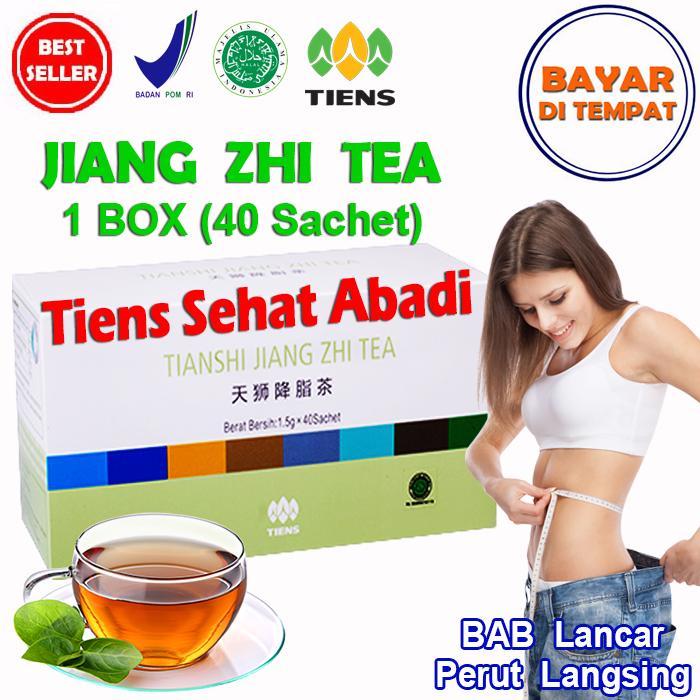 Tiens Teh Pelangsing Jiang Zhi Tea – 40 Sachet | Teh diet | Teh peluntur lemak | Teh buang lemak | Teh hijau penurun berat badan | Penghancur lemak | Pembakar lemak | Susut lemak | Obat pengecil perut | Obat penurun berat badan |