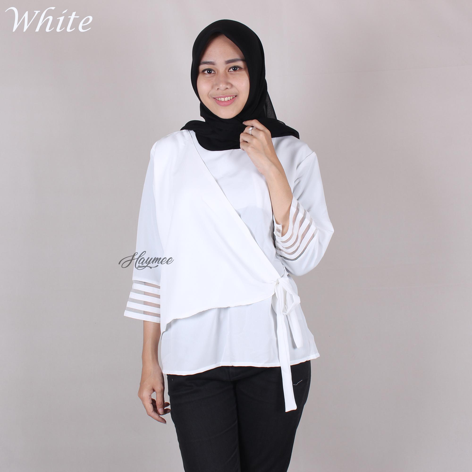Buy Sell Cheapest Formal Kantor Wanita Best Quality Product Deals Blouse Baju Haymeestore Atasan Cewek Casual Cewe Pakaian Premium
