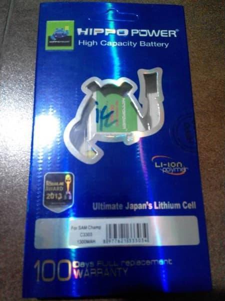 PROMO Hippo Battery Samsung Galaxy Champ 1300 mAh TERLARIS